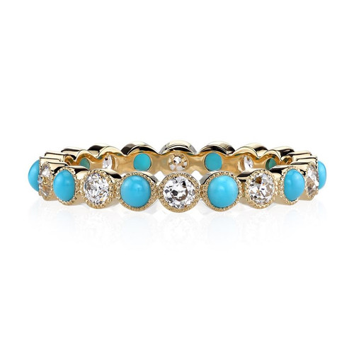 18KT Gabby Turquoise Ring