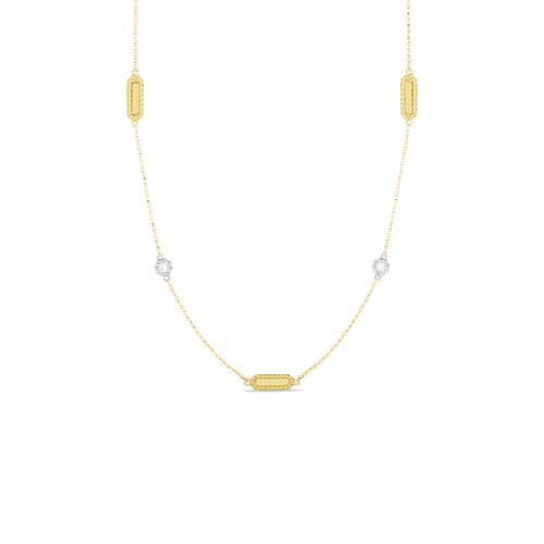 18KT Diamond Barocco Station Necklace