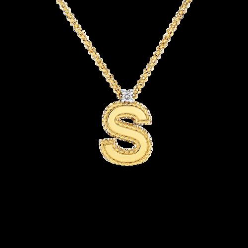 18KT Diamond Princess Initial Necklace