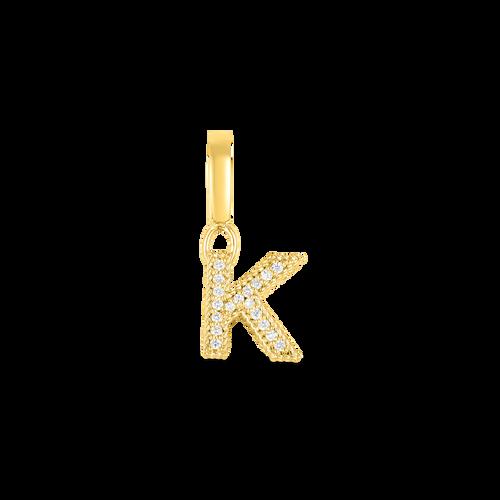 18KT Diamond Initial Charm