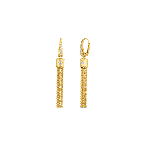 18KT Diamond Tassel Earrings