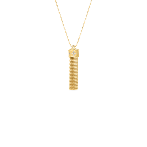 18KT Diamond Tassel Necklace