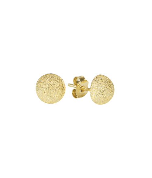 Florentine Finiss Large Button Stud Earrings