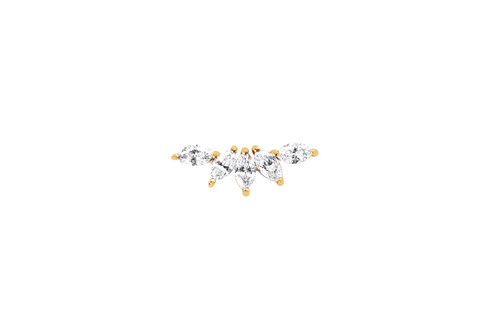 14KT Diamond Marquise Fan Earring