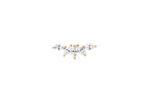 14KT Diamond Marquise Fan Earring