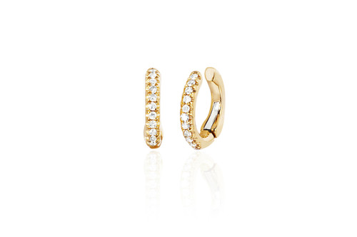 14KT Single Diamond Cartilage Ear Cuff