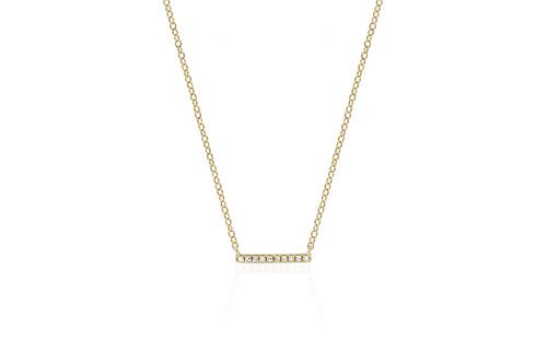 14KT Mini Diamond Bar Necklace