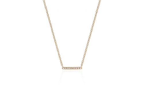 14KT Mini Diamond Bar Necklace
