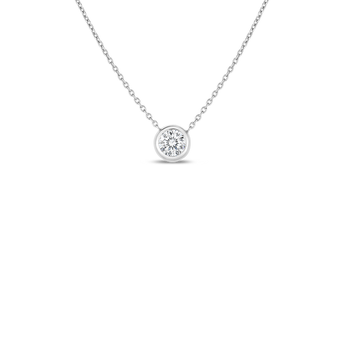 Bezel Set Diamond Station Necklace