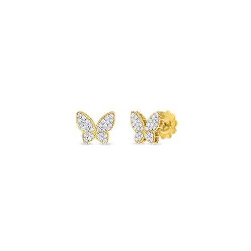 18KT Butterfly Stud Diamond Earrings