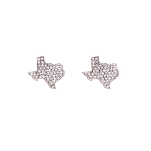 18KT Diamond State of Texas Cufflinks
