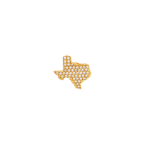 18KT Diamond Texas Lapel Pin