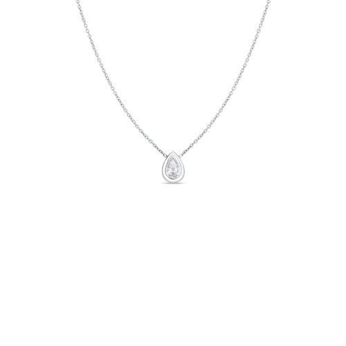 18KT Diamond Pear Shape Pendant