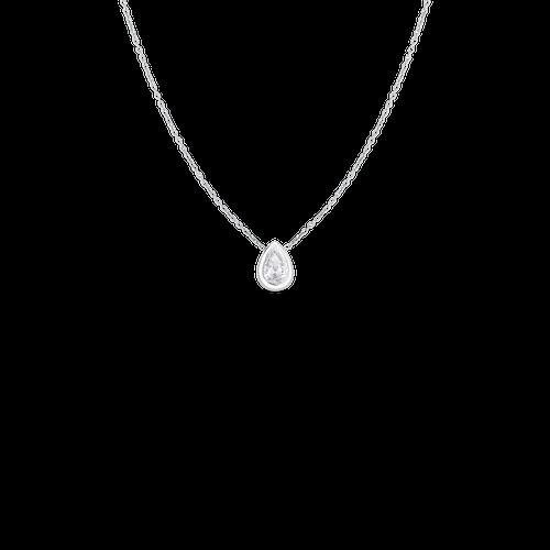 18KT Diamond Pear Shape Pendant