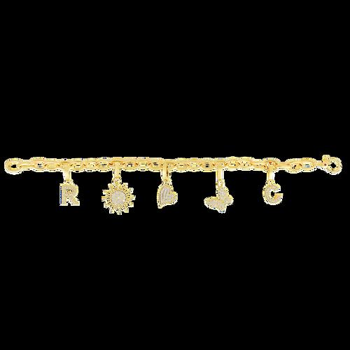 18KT Oval Link Charm Bracelet