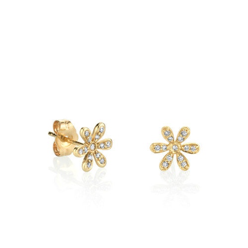 Diamond Baby Daisy Stud Earrings