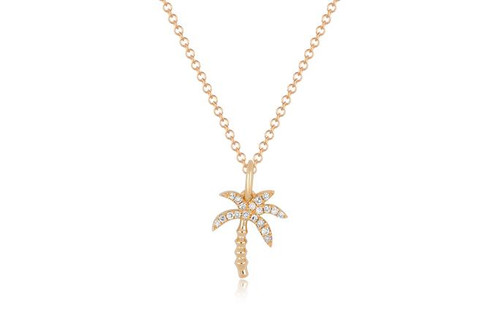 14KT Diamond Wild Palm Necklace