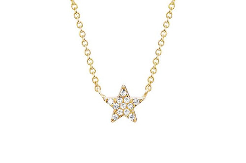 14KT Diamond Star Choker Necklace