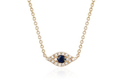 14KT Diamond Evil Eye Choker