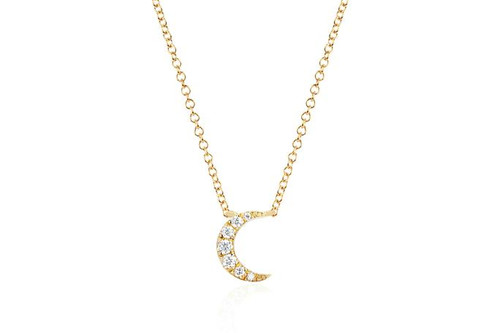 14KT Diamond Moon Choker Necklace