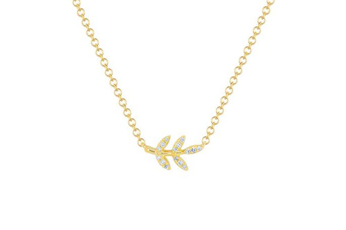 14KT Diamond Leaf Necklace