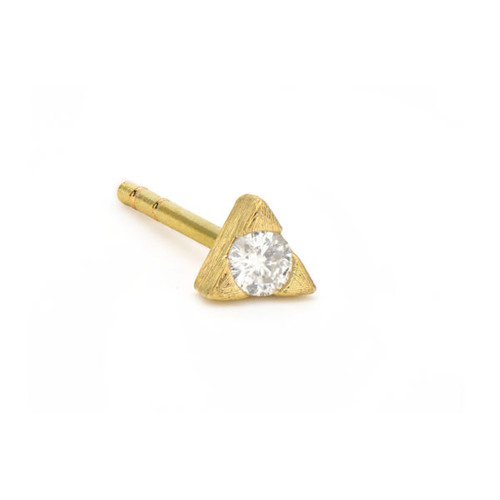 Petite Diamond Trillion Stud Earring