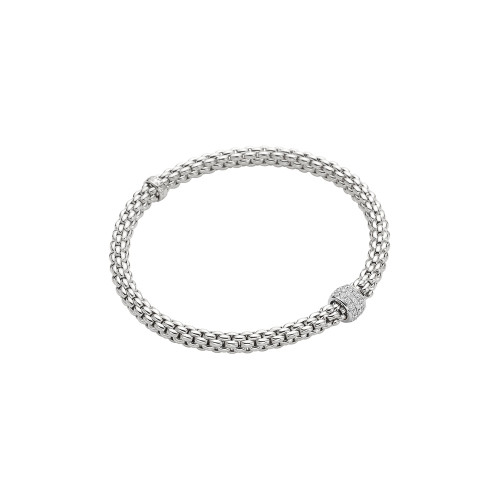 18KT Solo Diamond Pave Flex'it Bracelet