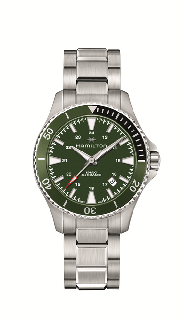 Khaki Navy Scuba Watch with Green Dial