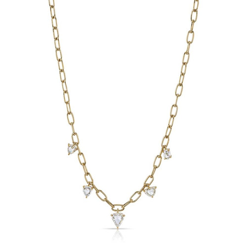 18KT Five Stone Cailyn Necklace