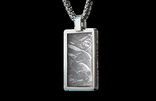 Meteorite Pinnacle Dog Tag Necklace