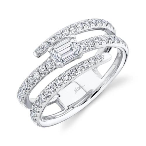 14KT Emerald Diamond Wrap Ring
