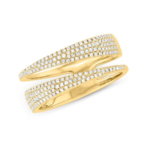 14KT Diamond Double Row Ring