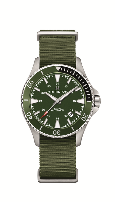 Khaki Navy Scuba Auto Watch in Green