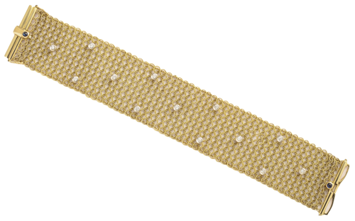 18KT Tiffany & Co Diamond Mesh Bracelet