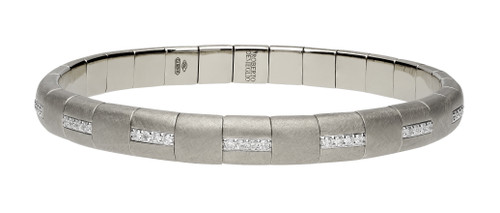18KT Pura Gold Alternating Diamond Stretch Bracelet