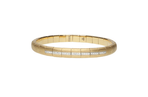 18KT Pura Gold Seven Station Stretch Bracelet