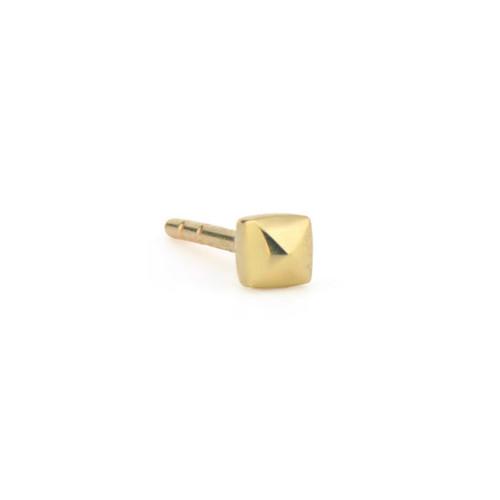 18KT Petite Tiny Pyramid Stud Earring