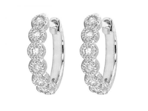 18KT Provence Bezel Hoop Earrings