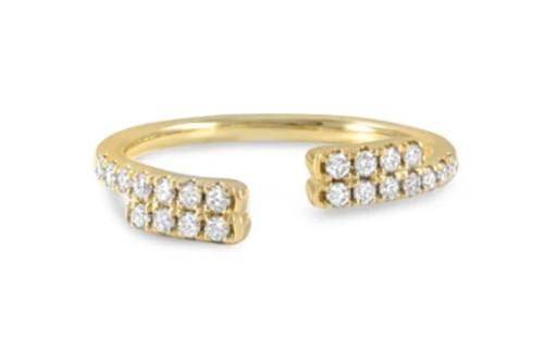 14KT Open Split Diamond Ring