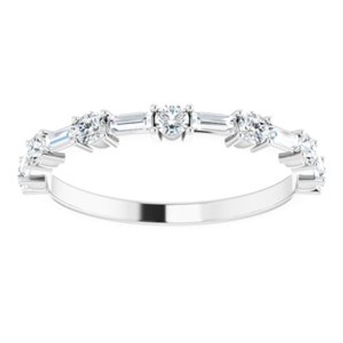 14KT Alternating Diamond Anniversary Band