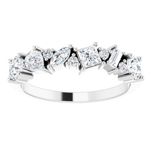 14KT Mixed Shaped Diamond Anniversary Band