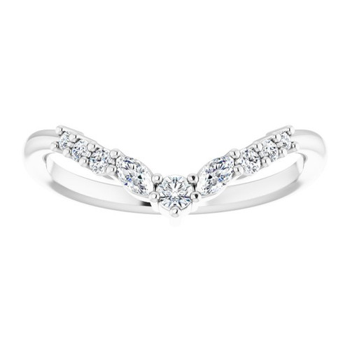 14KT Diamond Contour Band
