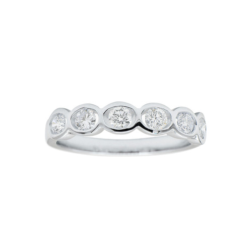 18KT Bezel Set Diamond Band