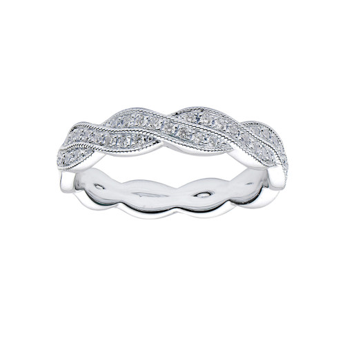 18KT Twist Diamond Band
