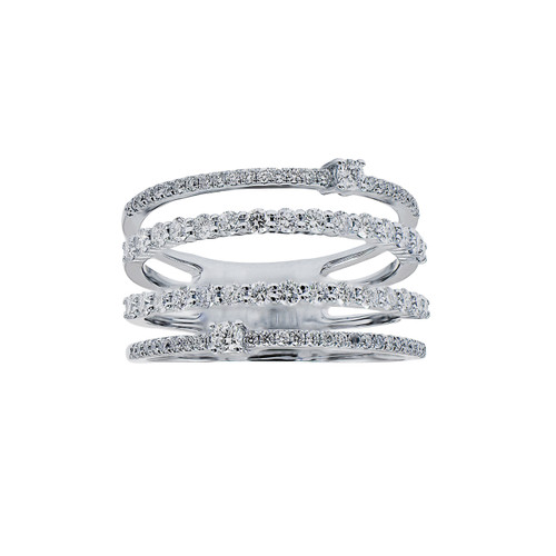 18KT Multi-Row Diamond Statement Ring