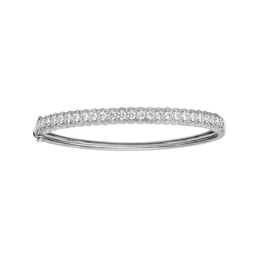 18KT Diamond Halo Bangle Bracelet
