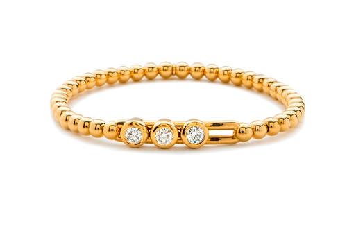 18KT Large Diamond Bezel Set Slide Bracelet