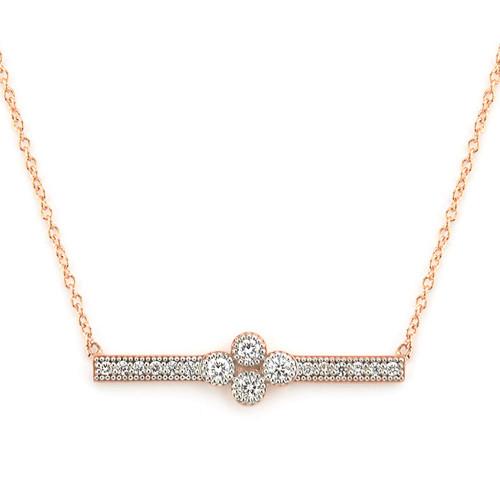 18KT Provence Diamond Bar Necklace