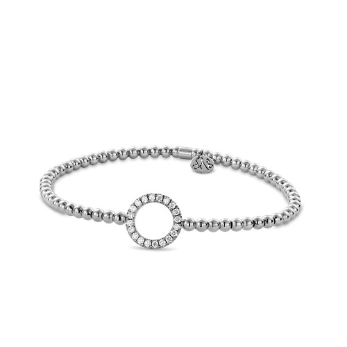 18KT Diamond Open Circle Bracelet