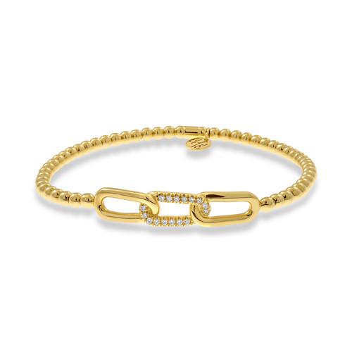 18KT Diamond Link Bead Bracelet
